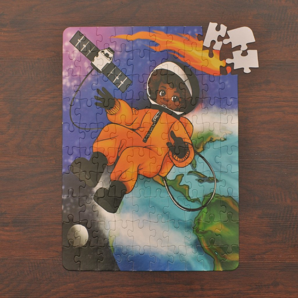 DAMAGED BOX XL Space Explorer Kids' Puzzle (14in x 19.5in w/100 Pieces)