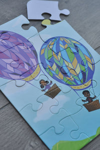 Pocket Hot Air Balloon Puzzle (6in x 8in w/15 pieces)