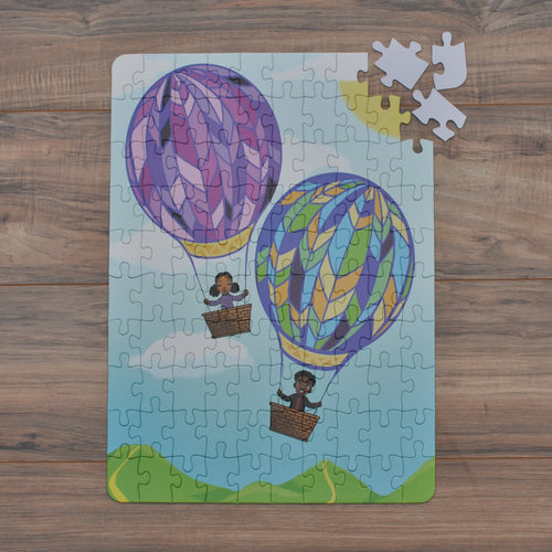 XL Hot Air Balloon Kids' Puzzle (14in x 19.5in w/100 Pieces)
