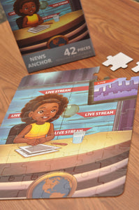 News Anchor Puzzle (10.5in x 14in w/42 pieces)