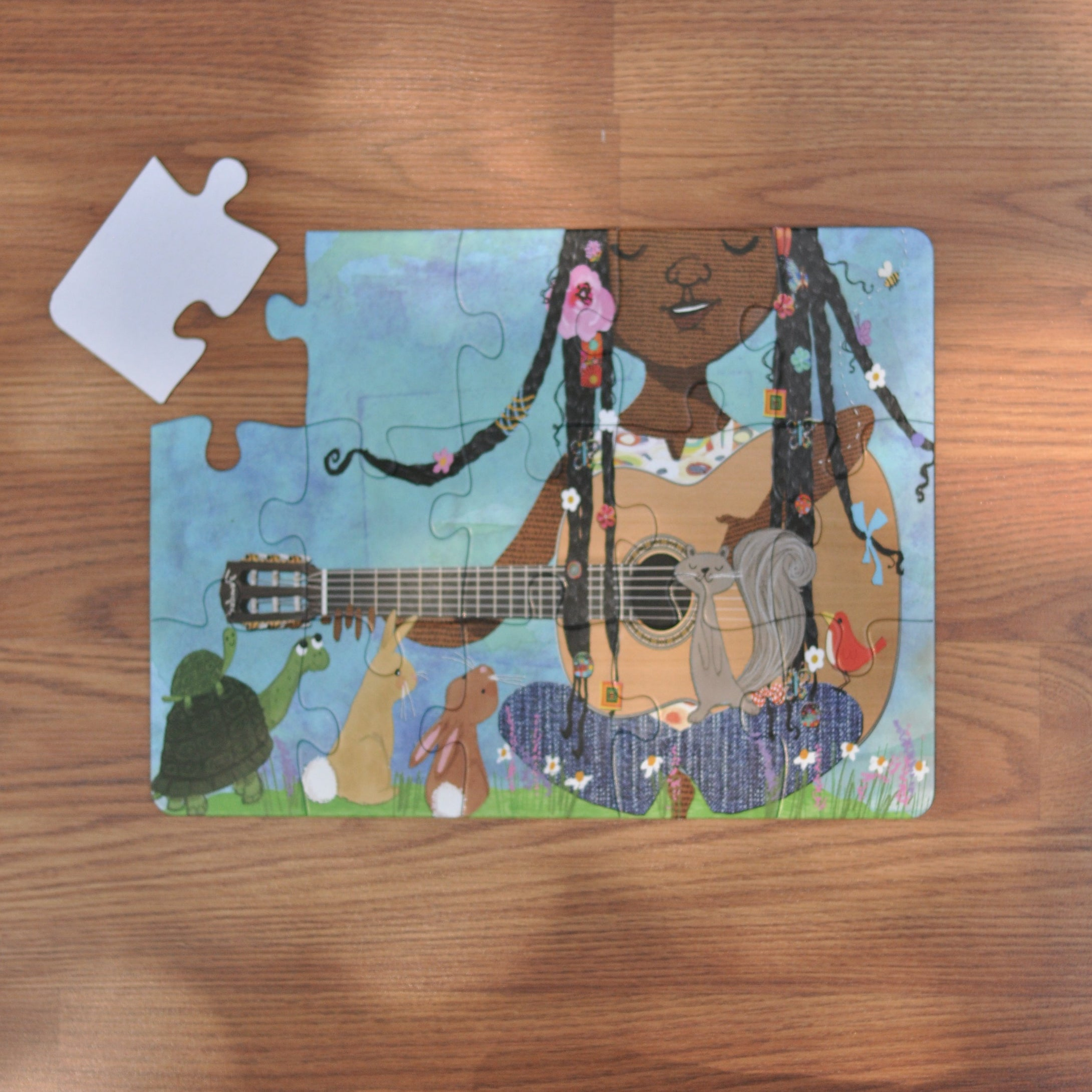Her Song Puzzle (9in x 12in w/ 15 Pieces) Damaged Box