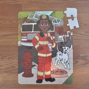 Future Firefighter Puzzle (10.5n x 14in w/42 pieces)