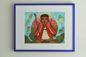 "Brown Boy Moses - 8"" x 10"" Print"
