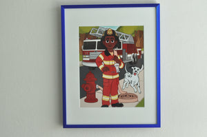 "The Firefighter - 8"" x 10"" Print"