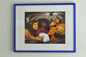 "Girl in the Lions' Den - 8"" x 10"" Print"
