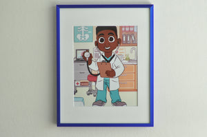 "Brown Boy Doctor - 8"" x 10"" Print"