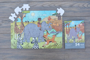 Large African Savannah Puzzle (12in x 16.5in w/54 Pieces)