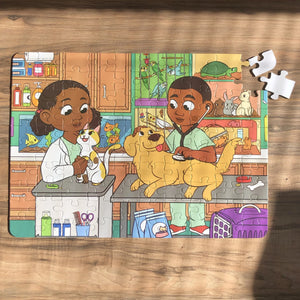 XL Veterinarian Kids' Puzzle (14in x 19.5in w/100 Pieces) Damaged Box