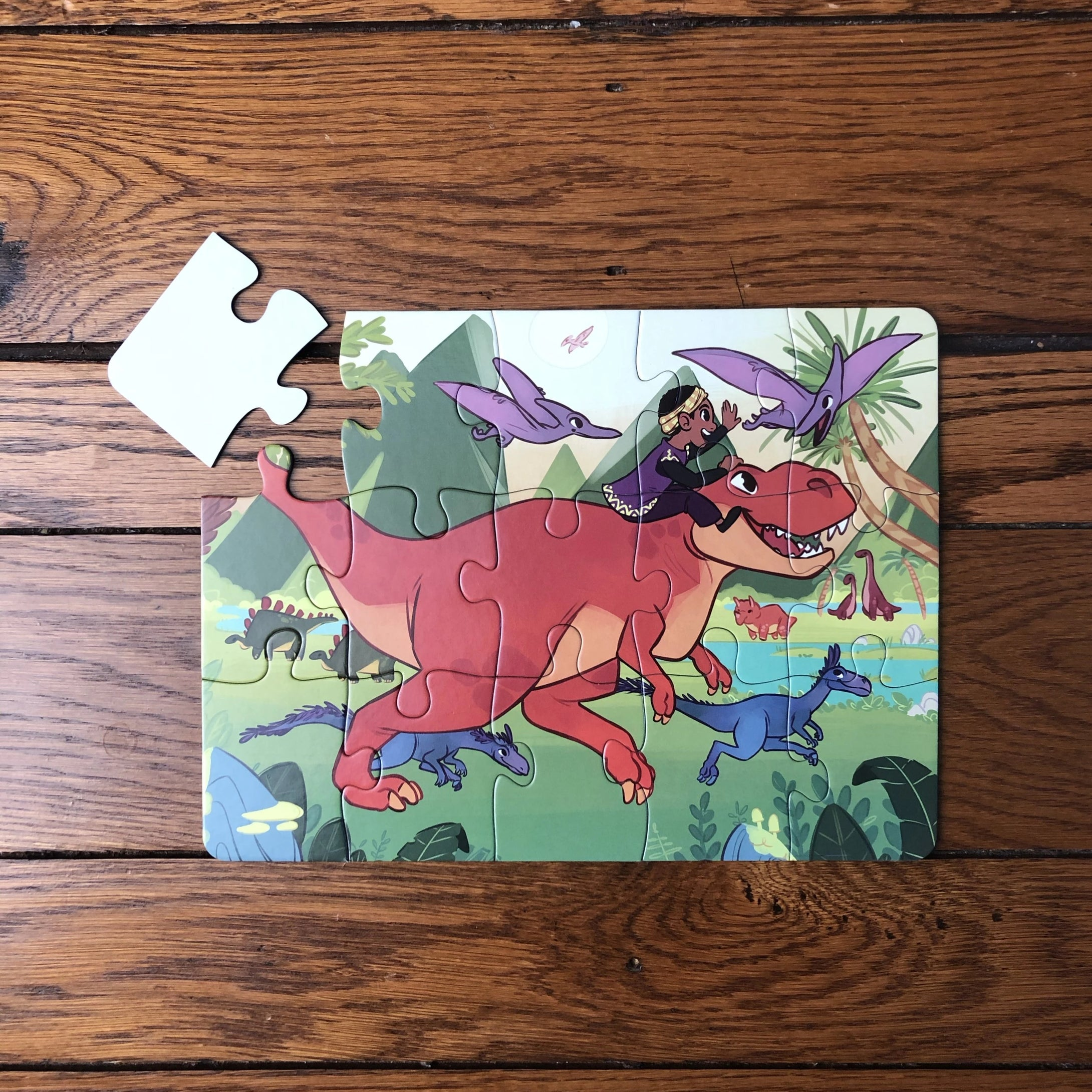Dinosaur Valley Puzzle (9in x 12in w/15 pieces)