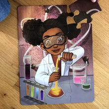 Chemistry Girl Puzzle (9in x 12in w/ 15 pieces)