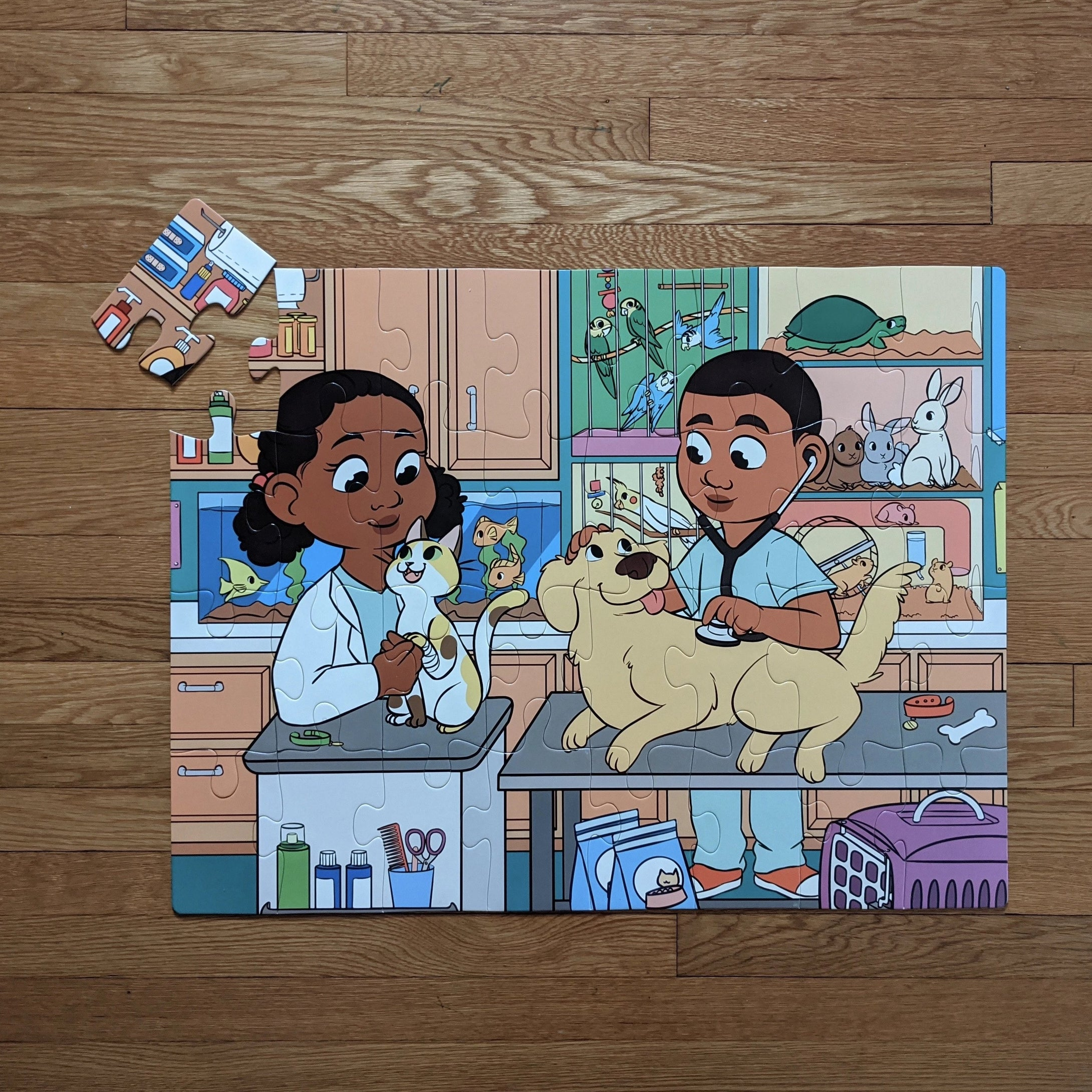 DAMAGED BOX Veterinarian Kids Floor Puzzle (23in x 30in w/32 pieces)