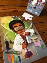 Chemistry Boy Puzzle (9in x 12in w/15 pieces)