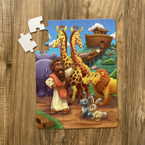 Noah's Ark Kids' Puzzle (10.5in x 14in w/42 pieces)