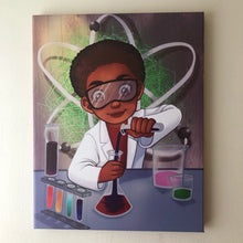 Chemistry Boy (14in x 11in - Canvas Wall Print)