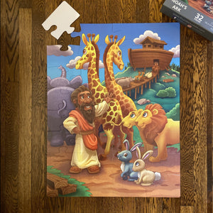 Noah's Ark Kids' Floor Puzzle (23in x 30in w/32 pieces)
