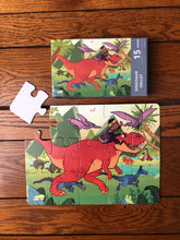 DAMAGED BOX Dinosaur Valley Puzzle (9in x 12in w/15 pieces)