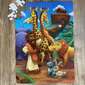 DAMAGED BOX XL Noah's Ark Kids' Puzzle (14in x 19.5in w/100 Pieces)