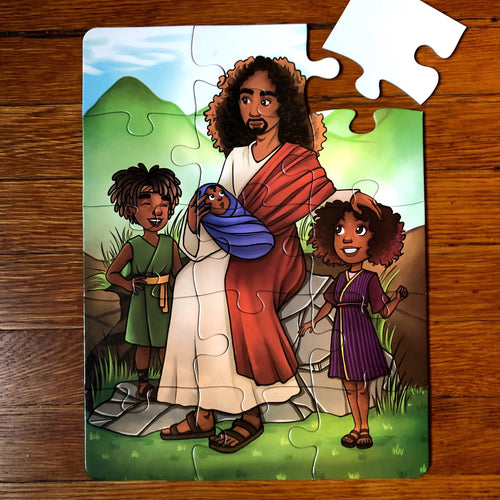 Jesus' Kids Puzzle (9in x 12in w/15 pieces)