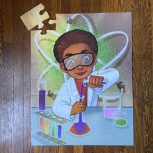 Chemistry Boy Floor Puzzle (23in x 30in w/32 pieces)