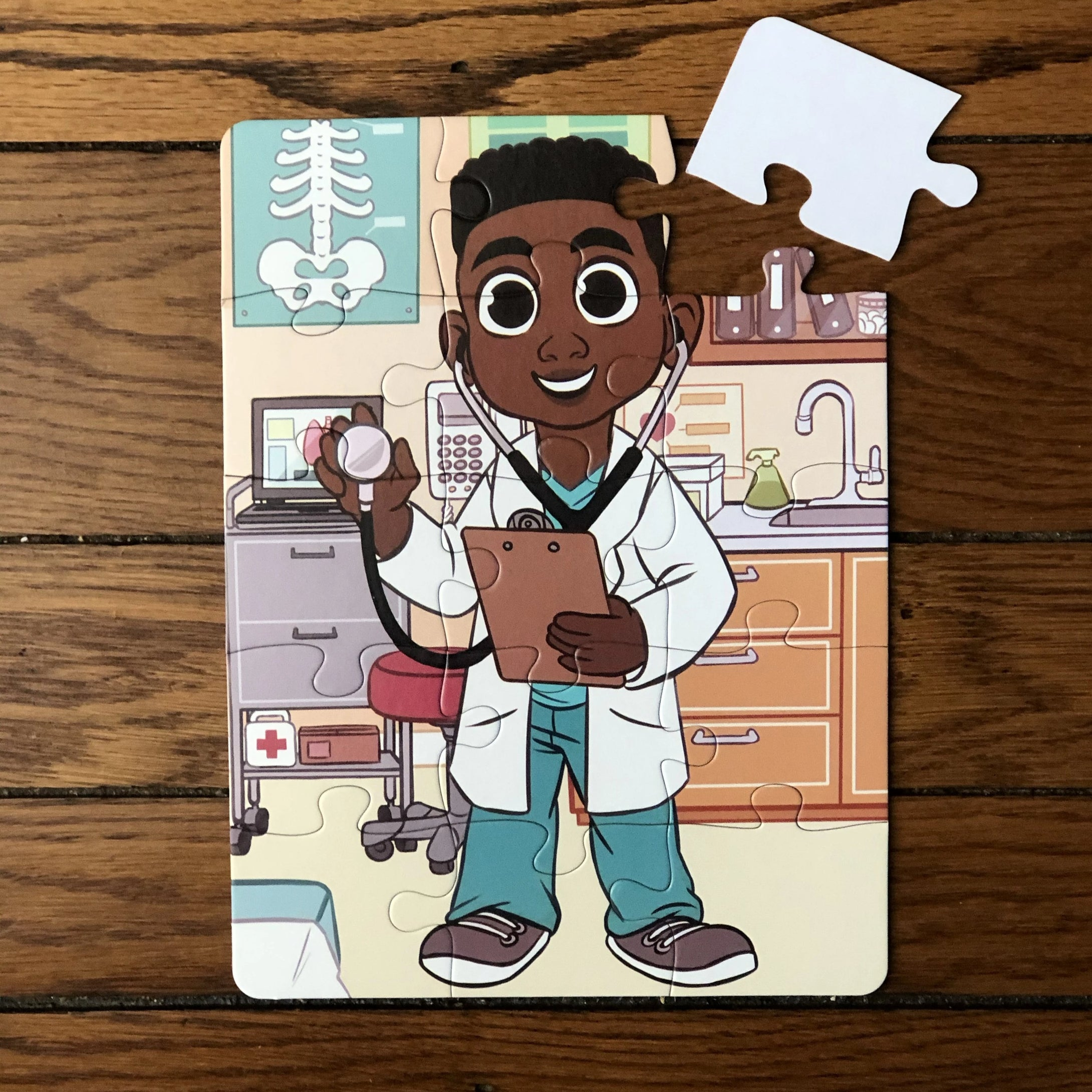 Boy Doctor Puzzle (9in x 12in w/15 pieces)