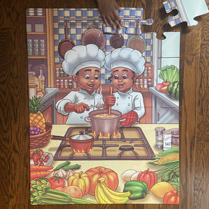 Future Chefs Kids' Floor Puzzle (23in x 30in w/32 pieces)