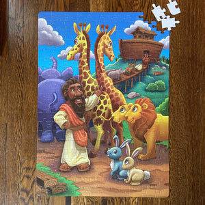 DAMAGED BOX XXL Noah's Ark Kids' Puzzle (19.5in x 27.5in w/200 Pieces)
