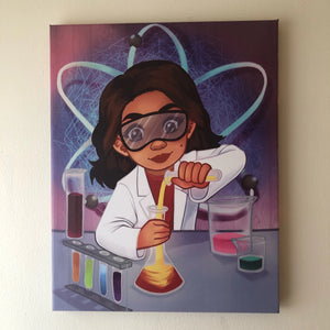 Future Scientist (14in x 11in - Canvas Wall Print)