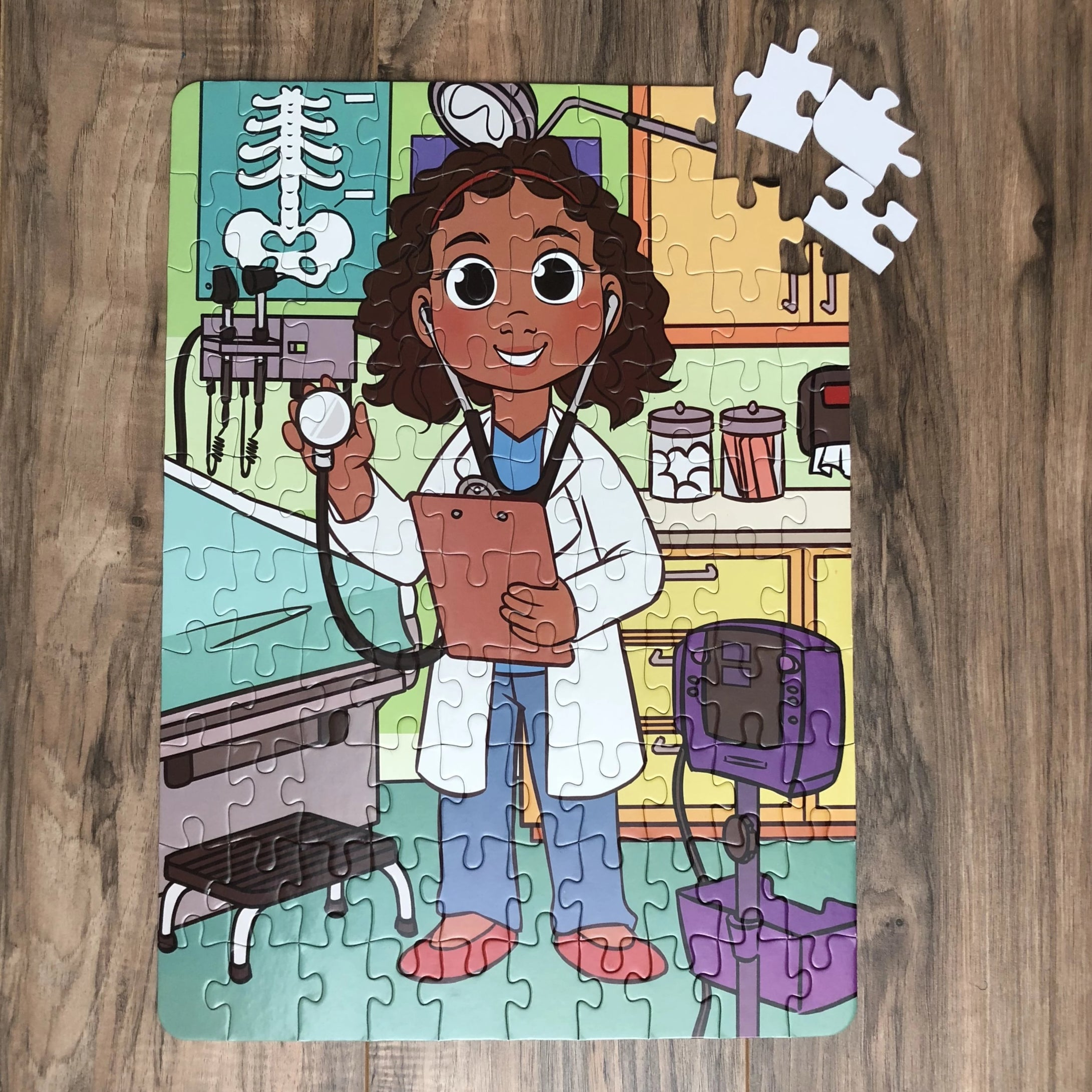XL Future Doctor Kids' Puzzle (14in x 19.5in w/100 Pieces)