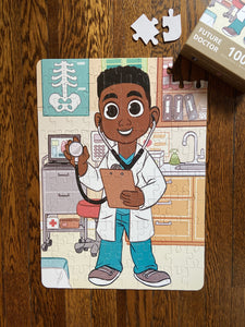 DAMAGED BOX XL Boy Doctor Kids' Puzzle (14in x 19.5in w/100 Pieces)