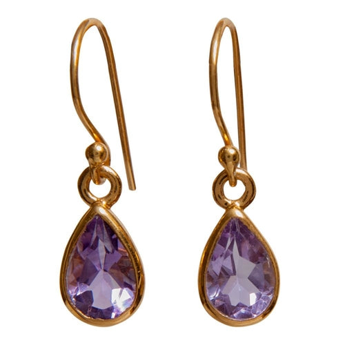 Gold-overlay Sterling Silver Gemstone Earrings
