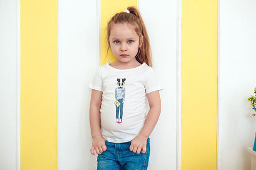 Badger Girl Kids Graphic Tshirt, (XS-3XS)