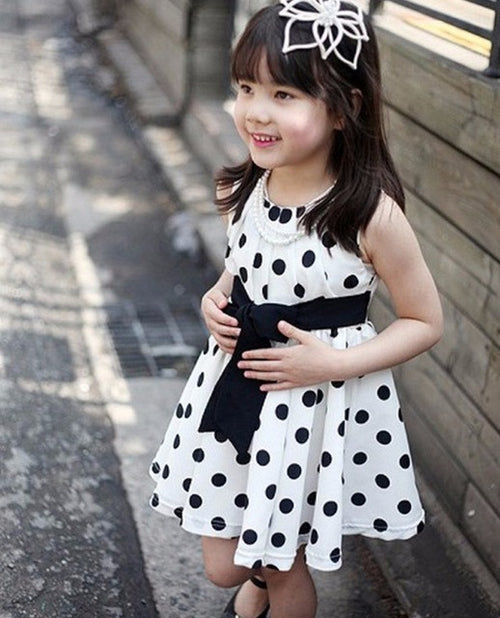 Girls Polka Dot Dress, (2T-7)