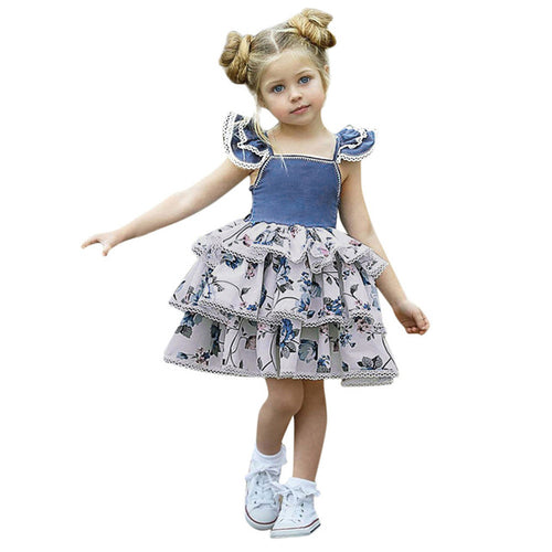 Trendy Toddler Girls Sleeveless Dress, (12m-4T)