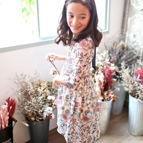 Floral Tunic Girls Dress (1y-10y)