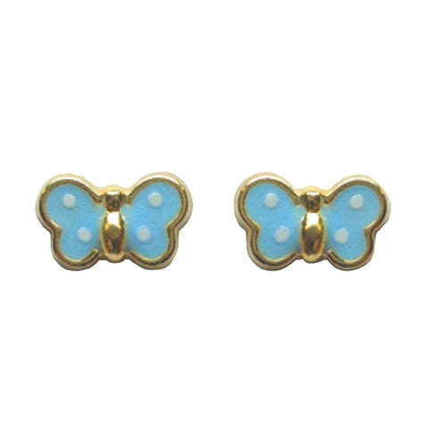 BecKids 18k Gold Baby Pink Bombay Elephant Stud Earrings