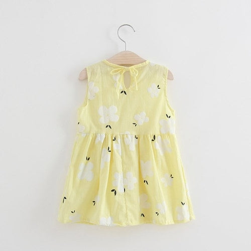 Baby Girl Summer Dress Sakura Flowers Sleeveless