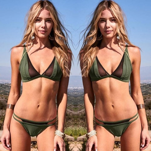 Beautiful Green Bikini Set Push-up Padded, (S,M.L)