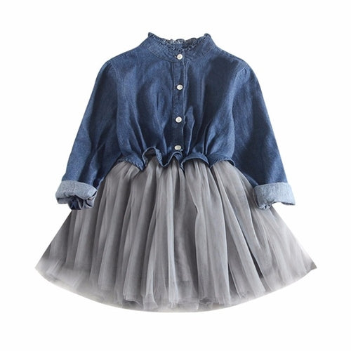 Toddler Baby Girls Dress Denim Mini