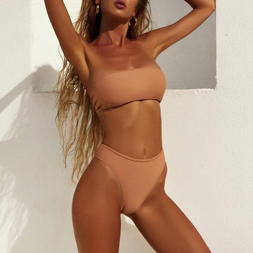 Fascinating Nude Bikini Set, (S-XL)