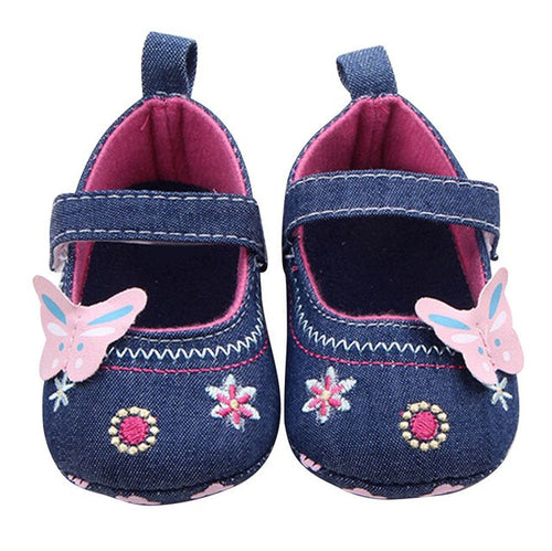 Fashion Baby Shoes Butterfly Soft Sole, (baby sizes)