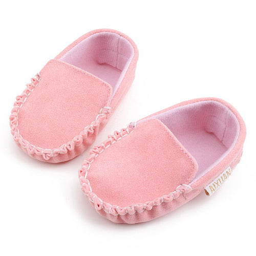 Spring Baby Girls Shoes Double Velour Soft, (baby sizes)