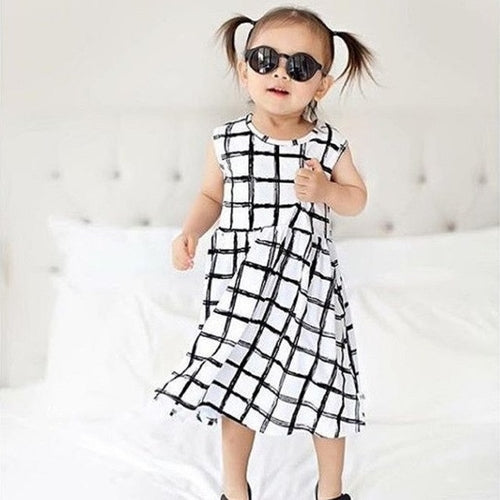 Summer Girl Dress, Plaid, (3T-7)