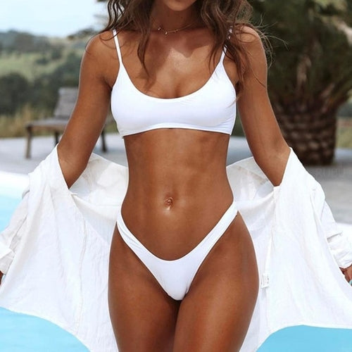 New Arrival White Push-Up Padded Bra Swimwear, (S,M,L)