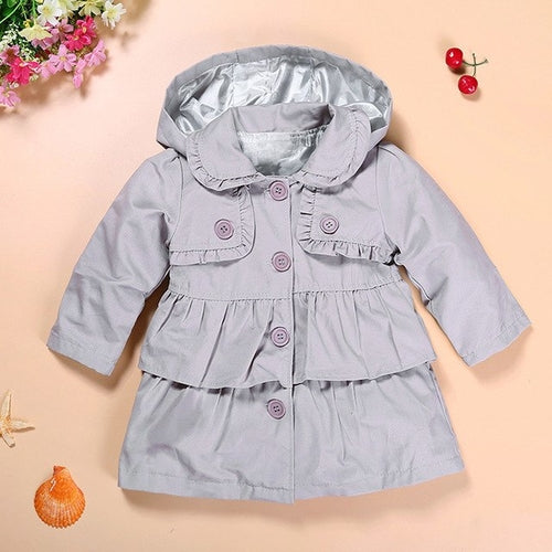 New Girls Jacket Coat Grey, (12m-5T)