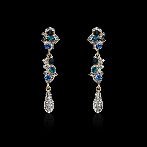 Charm Fashion Women Water Drop Crystal Earrings