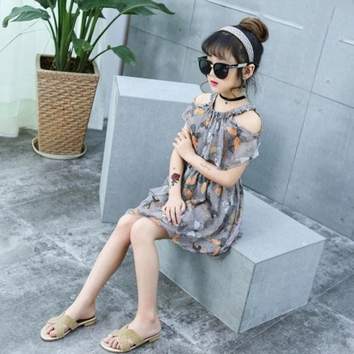 Sweet Girls Floral Print Dress, (3T-8T)