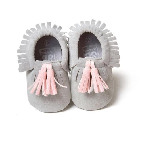 Toddler Baby Tassel Soft Sole Prewalker Shoes, (baby sizes)