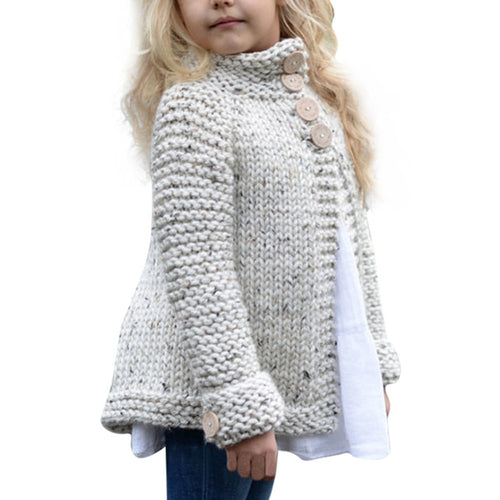 Toddler Kids Baby Girls Sweater Grey, (2T-8)