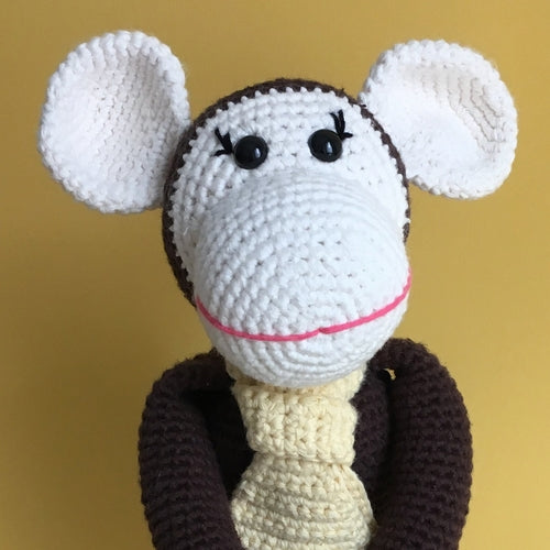 Momo the Monkey Hand Knitted Stuffed Animal