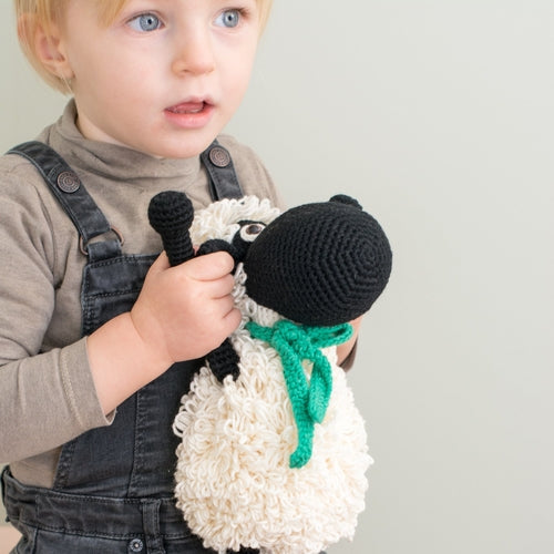 Darla the Sheep Hand Knitted Stuffed Animal